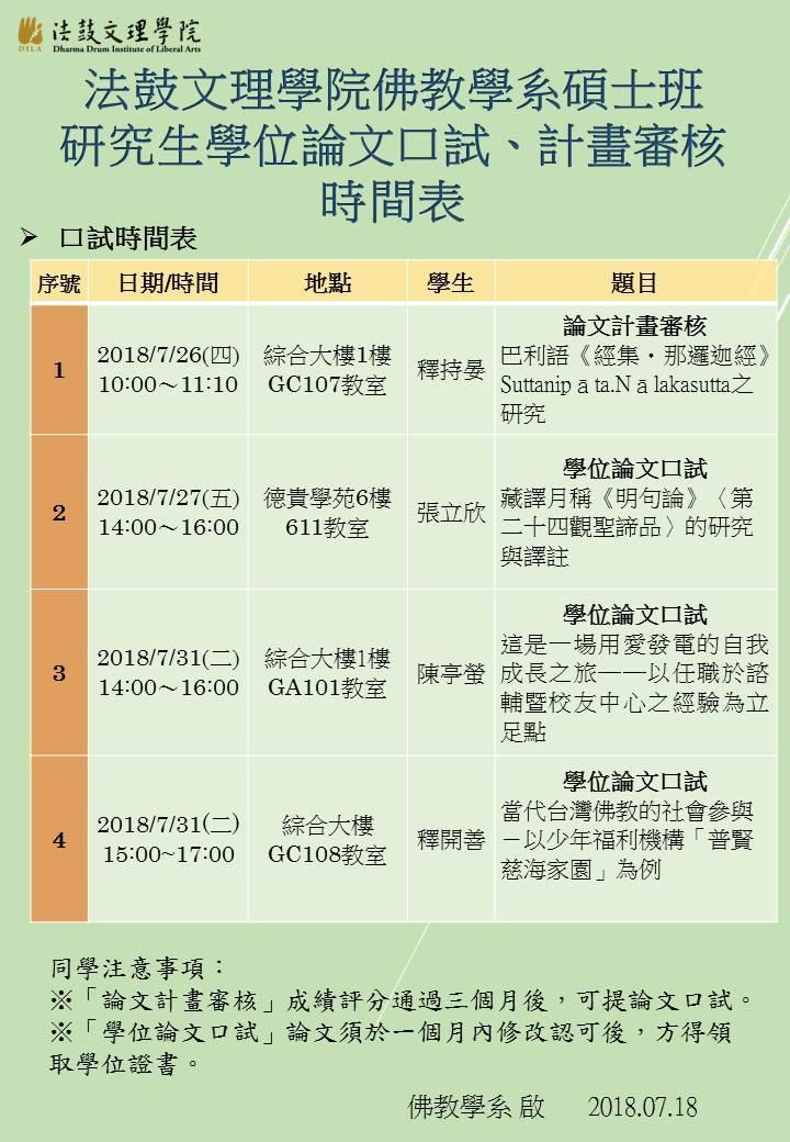 研究生呈現、計畫審核時間表 海報10707(網路版)
